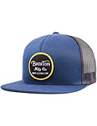 Brixton Unisex Headwear Wheeler Mesh Cap, unisex, WHEELER MESH CAP, Navy/Charcoal, talla única