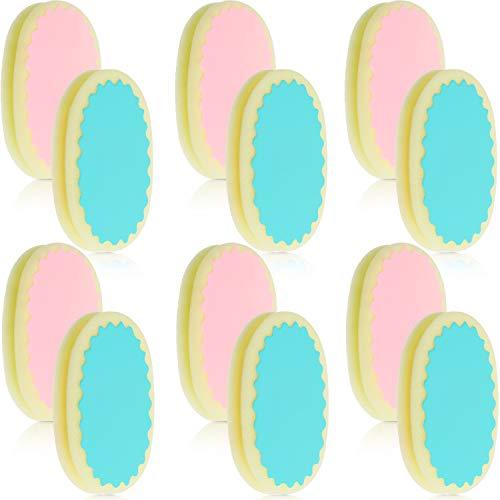 12 Stücke Haar Entferner Schwamm Enthaarung Schwamm Pad Schmerzfreie Haar Entfernung Schwamm Pads für Gesicht, Lippen, Arm, Kinn und Bein