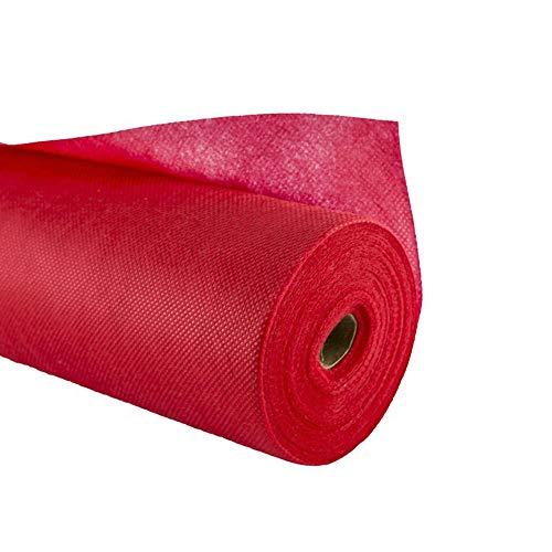 Vetrineinrete® rotolo tovaglia tnt rossa ritagliabile da 10 metri x 100 cm 0.70gr per decorazioni e addobbi natalizi per base presepe copribase per albero di natale o per tavole buffet