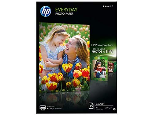 HP Q5451A Everyday Glossy Standard Fotopapier 200g/m2 A4 25 Blatt, weiß