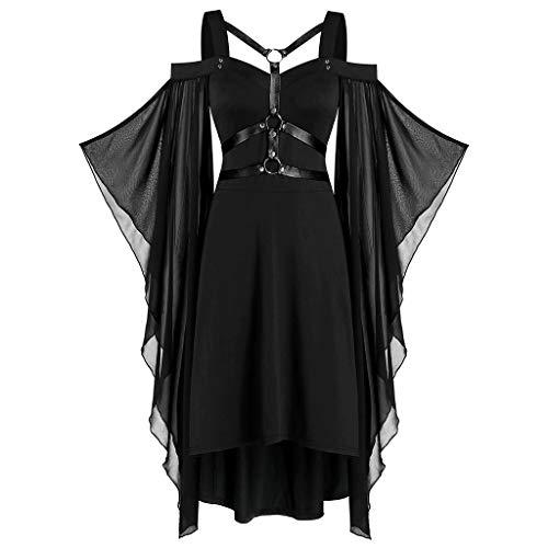 Mittelalterliches Kostüm Damen Women Kurzarm Renaissance-Kleid Piebo Frau Vintage Gothic Lolita Kleid Steampunk Röcke Karneval Party Rüschen Rock Fasching Fasnacht Cosplay Abendkleid - Women's Golf Kostüm
