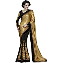 Jay Sarees - Sari - para mujer Dorado dorado única