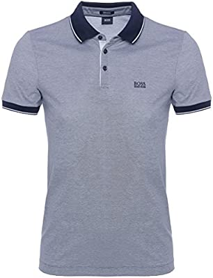 BOSS Hugo Boss Regular Fit Polo mercerizados de Prout Marina De Guerra