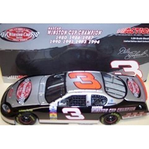 Dale Earnhardt Sr #3 The Victory Lap 7X Champion Seven Time Champion Monte Carlo 2003 Winston Cup Champ Series 1/24 Scale Diecast Hood Opens , Trunk Opens HOTO Action Racing Collectibles ARC Limited Edition by Action Racing