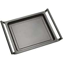 BRA Efficient - Plancha asador liso, 45 cm, aluminio fundido con antiadherente Teflon Platinum