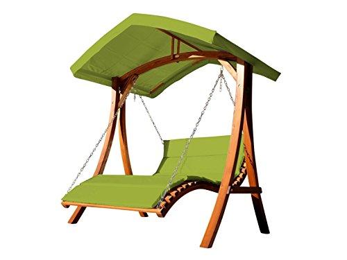 Design Hollywoodliege Doppelliege 'Aruba' aus Holz Lärche mit Dach von As-S