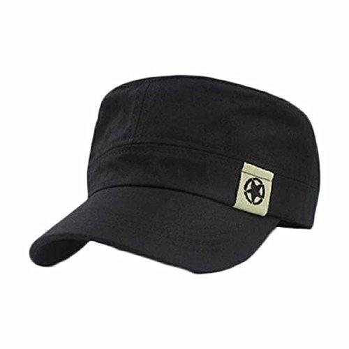 Cappello,WINWINTOM Cappello Militare Tetto Piano Baseball Field Cap