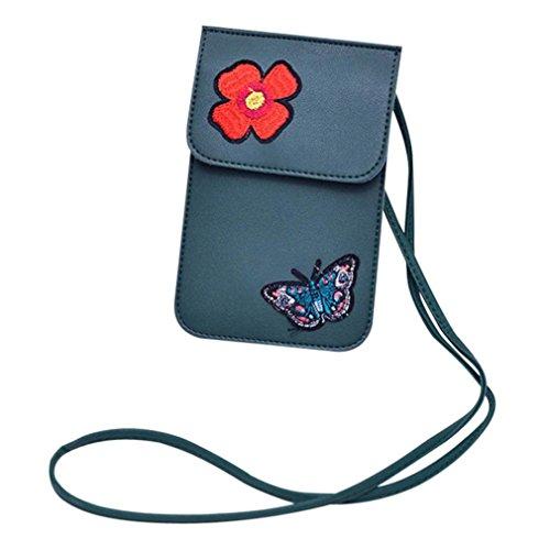 Bluestercool Borse Donna Pelle Borsa a Tracolla Piccola Modello della Farfalla Verde