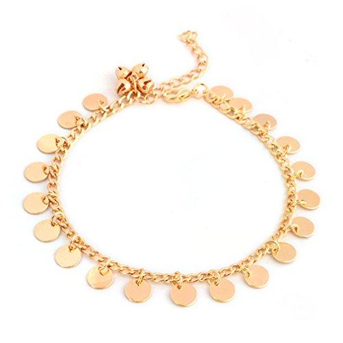 Yesiidor Fußkettchen Damen Fußkette Verstellbares Boho Style Fußketten Sommer Gold