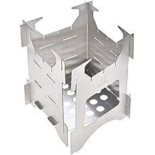 D Estufa de leña portátil para uso al aire libre, estufa única de