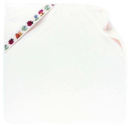 Feiler paulix00220504 Badetuch mit Kapuze Pauli Größe 80 x 80 cm, weiß (Dusche Aufheller)