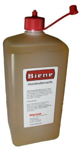Biene Holzbodenseife für nichtversiegelte Holz-Böden, zur Reinigung und Pflege 1 Liter -