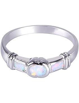 KELITCH Klassisch Einfachen Künstlich-Opal Ring Unisex