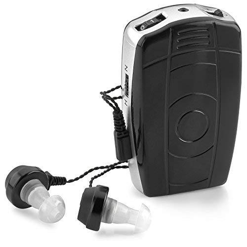 Amplificatore suono personale digitale e Voice–tasca Sound by Med ca con orecchio singolo e doppio orecchio cuffie auricolari con microfoni The Best Audizione per adulti o dispositivo di ascolto