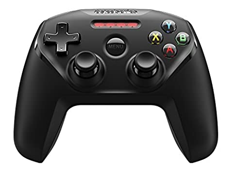 SteelSeries Nimbus, Wireless Gaming Controller, Bluetooth, 12 Buttons, Rechargeable, (Apple TV / iOS / iPad / iPhone / iPod Touch / Mac) - Black
