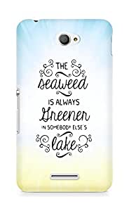 AMEZ seawead is greener in others lake Back Cover For Sony Xperia E4