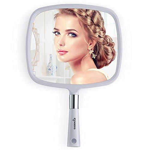 Easehold specchio a mano specchio portatile specchio per il trucco bianco