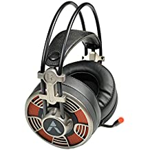 Adcom Vision 7.1 USB Noise Cancelling Super Gaming Headphone with Highly Sensitive Omnidirectional Mic, Cool LED, 50mm Drivers, 7ft Extra Long Braided Cable and Adjustable Volume Control Button (Steel Grey)