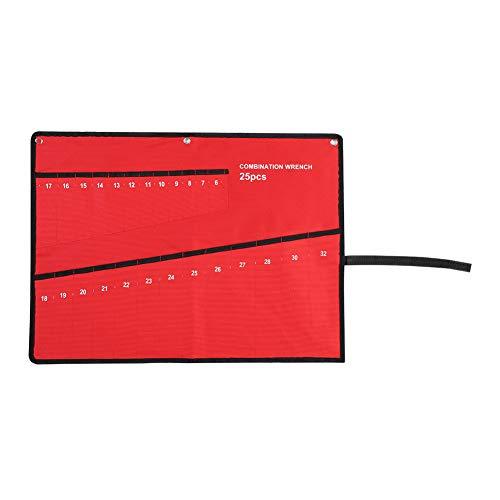 Mehrfachtaschen Werkzeugtasche zum Aufrollen von Werkzeugen Leinen Schraubenschlüssel Zange Aufbewahrungstaschen tragbar kleine Rolltaschen Organizer für Heimwerker Klempner 1.00V