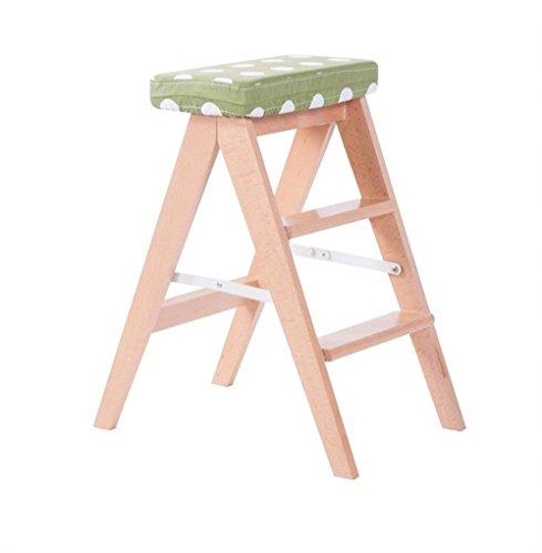ZhHOME Sofa Die Küche Klappstuhl Massivholz Kleine Hocker Haushalt Stufenleiter Hochstuhl Der Stuhl 60 cm hoch (Farbe : #4)