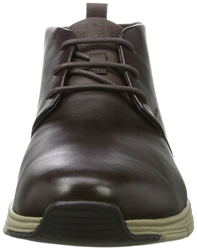 Geox U Snapish B, Baskets Montantes Homme Marron (Coffee/browncotto)