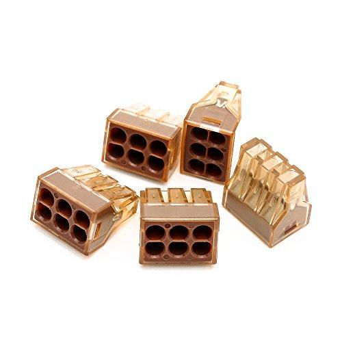 Suyep Push Wire Connector für Anschlusskästen PCT-606 / 773-606 (10) (Push-wire)