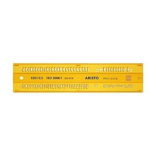 Aristo AH5301/2 Lettering Stencil ISO 3098-1