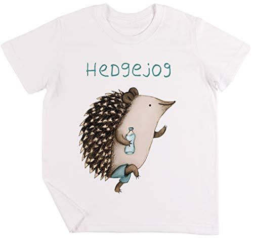 Hedgejog Kinder Jungen Mädchen Unisex T-Shirt Weiß - Hogs Out T-shirt