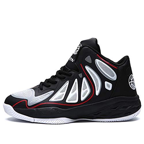 Männer Basketball Schuhe High Top Atmungsaktives LederKissen athletische KnöchelStiefel Training Sport Sneakers