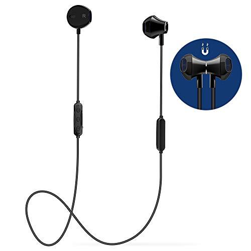 Auricolari Bluetooth Sport,Cuffie Bluetooth Magnetiche Qualità Alta di 6 a 8 ore con Stereo HiFi,Progettazione Dell'equilibrio,per Fitness Running Correre Jogging/iPhone Samsung LG Xiaomi Huawei