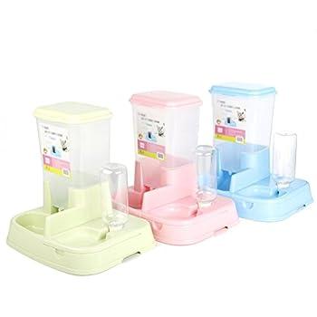 Scrox 2en 1distributeur automatique de nourriture pour chiens et chats pratique multifonction Nourriture et fontaine éclat 1pcs, bleu, 1