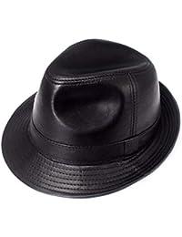 FERZA Home Cappello da Cowboy Cappello da Cowboy in Pelle per Uomo  Primavera Estate e Autunno 5c311b19b613
