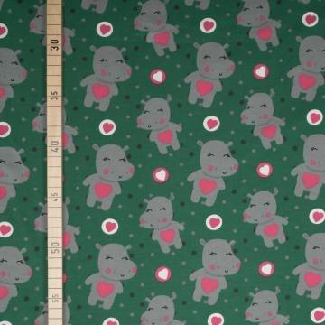 Sweet Hippo - Grün - Jersey