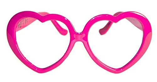 Folat Valentine Party Brille Herz Form - Pink