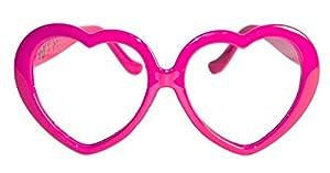 CREATIVE San Valentín Gafas de Fiesta con Forma de corazón, Color Rosa