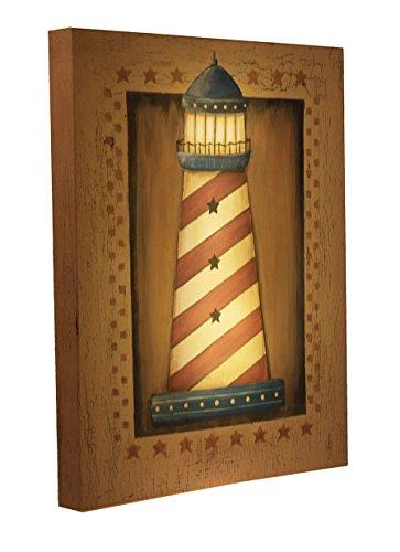 Clever Creations Light up Leinwand Leuchtturm Wand Kunst Light House Wand Kunst mit LEDs | 30,5x 40,6cm Perfekte Größe für Home, Wohnzimmer, Büro Oder Klassenzimmer | batteriebetrieben