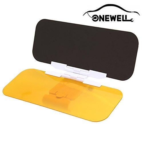 Onewell 2 in 1 Auto Blendschutz Blend Sun Anti-UV Block Visier Tag und Nacht Blendschutz Anti-Blend Spiegel.