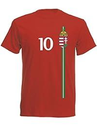 Ungarn Kinder T-Shirt Trikot St-1 EM 2016 - rot Hungary Kids