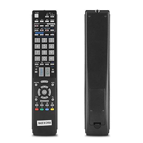 Zerone Smart TV Fernbedienung Universal Fernbedienung Ersatz für Sharp LED/LCD/HD/3D Smart Digital TV (Sharp-tv Tastatur)