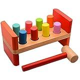 Golpeando Banco de madera con el martillo para niños pequeños bebés Niños Bebes para niños