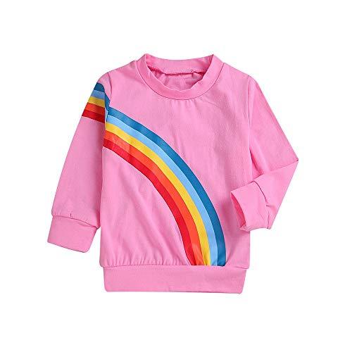 Challeng Frauen Sweatshirt Hohe Qualität Mama & Ich Kinder Kinder Lange Ärmel Regenbogen Top Familie Kleidung Geeignet für Oberbekleidung Familie Familie Kinder Sweatshirt