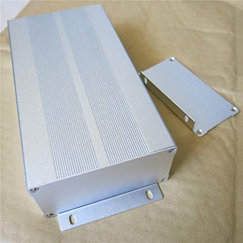 200(L) x105(B) x55(H) mm Aluminiumgehäuse Aluminium Gehäuse Leergehäuse Alubox Metallgehäuse silber enclosure Projekt Box Elektronik Netzteil PCB Schaltschrank Aluminiumkasten Instrumenten Kühlbox
