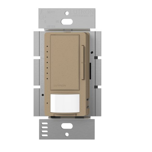 Lutron Maestro LED Dimmer switch with motion sensor, no neutral required, MSCL-OP153M-MS, Mocha Stone by Lutron