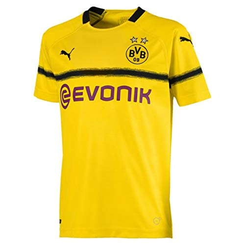 (Puma Kinder BVB Cup Shirt Replica Jr with Evonik Without Opel Logo Trikot, Cyber Yellow, 164)