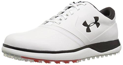 Under Armour UA Performance SL Leather, Chaussures de Golf Homme, Blanc (White 100), 43 EU