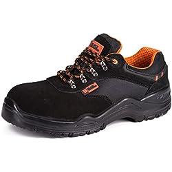 Black Hammer Chaussure de Sécurité S1P SRC Composite Plastique Protection Baskets Ultra Légères Antidérapante Chaussures de Travail et randonnée 1557 (41 EU)