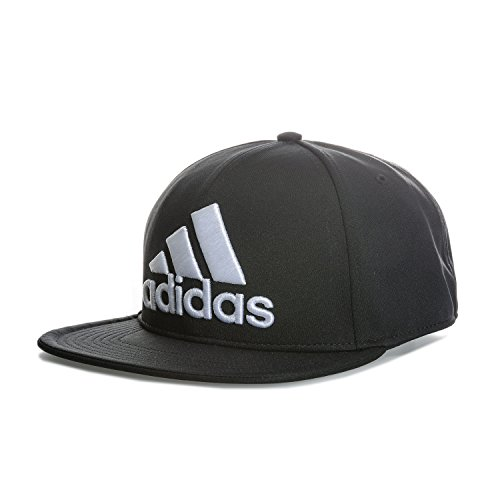 Brim Fitted Cap (adidas Kappe Flat Brim Cap Fitted, Schwarz, One size, S20551-OSFW)