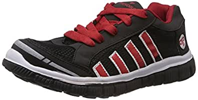Provogue Men's Black and Red Mesh Running Shoes - 6 UK