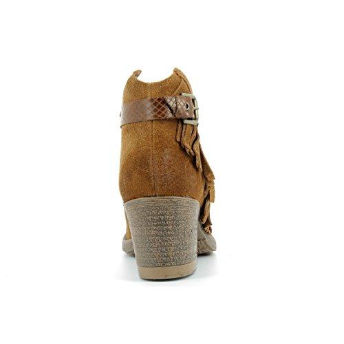 MARCO TOZZI - Bottillons en cuir femme MARCO TOZZI - 25032-27 - Bottes / Bottines - 36 au 40 Cognac