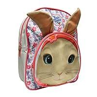 Peter Rabbit Girls Floral Print School Backpack, 3.4 Litre, Blue/Pink